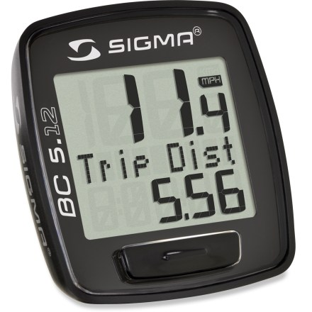 Fitness A great entry-level wired bike computer, the Sigma Sport BC 5.12 gives you the basics so you can get the most out of your training rides without distraction or excess information. - $23.00