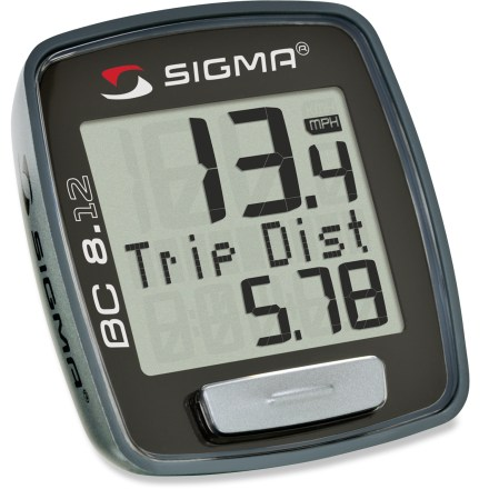 Fitness The Sigma Sport BC 8. 12 Bike Computer gives you all the information you need to track your bike training; display screen can be easily changed with the push of a single button. - $13.93