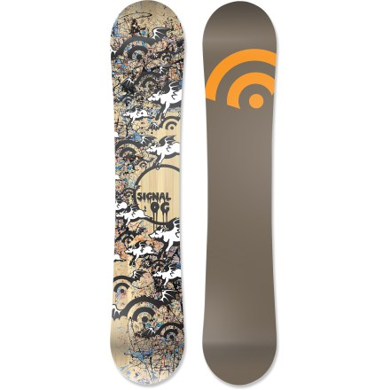 Snowboard The Signal OG snowboard is built for high speeds, big airs and advanced riders. Featuring a hand-painted topsheet, you'll love riding this one-of-a-kind board. - $219.83