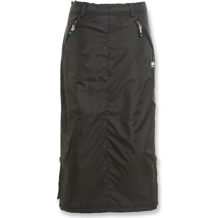 The Skhoop Original skirt is a versatile, insulated overskirt for cold and windy days. Great for walking, waiting for the bus or watching the hockey game in the bleachers. - $128.00