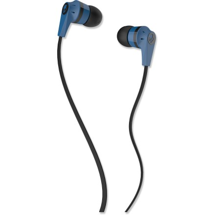 Camp and Hike The blue and black Skullcandy Ink'd 2 earbuds offer great sound at a great price! Earbuds feature 11mm diameter speakers, 1.3m cable and 3.5mm gold-plated plug. Skullcandy Ink'd 2 earbuds include 3 sizes of soft, interchangeable silicon gel buds. - $20.00