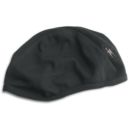 Entertainment Wear the SmartWool Headliner hat underneath your helmet for additional warmth and moisture control. Merino wool wicks, absorbs and evaporates moisture to keep head dry. Contoured, 3-panel design with flatlock stitching for durability. 1 size fits all. - $25.00