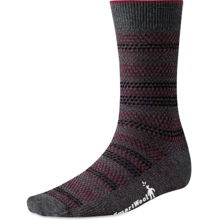 The Incline Tweed socks are ready for casual days and evenings out. Non-cushioned design is great for warm weather and with slim-fitting shoes. WOW (wool on wool) technology increases wool content in high impact areas, improving durability and overall comfort. Supportive arch braces add stability and keep socks in place. SmartWool socks are guaranteed not to itch and can be repeatedly washed and dried without shrinking. *Discount will be applied when you check out. Offer not valid for sale-price items ending in $._3 or $._9. - $9.83