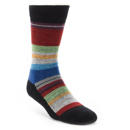 The SmartWool Saturnsphere socks with their multicolored stripes are fun to wear, and are attractive with all kinds of outfits. - $20.95