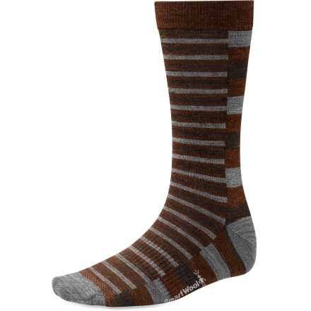 The lightweight SmartWool Split Stripe socks are your go-to dress socks for all business or life occasions. It's offers maximum breathability with mesh ventilation from foot to calf. - $9.83
