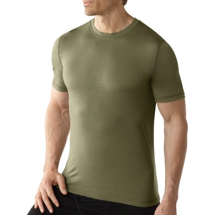 The soft touch of the SmartWool Microweight Crew T-shirt makes it easy to enjoy any activity in the fresh air. - $51.93