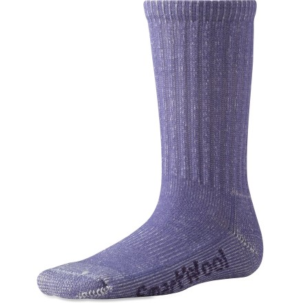 Camp and Hike The Smartwool Light Hiking socks for girls are made with top-grade, odor-fighting merino wool. They stay soft and maintain their fit even after multiple seasons. - $10.95