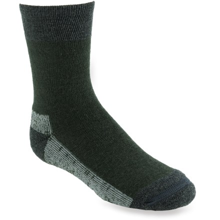 Camp and Hike The SmartWool Hiker Street crew socks wrap your boy's feet in soft SmartWool fibers. From the trail to the dinner table, they'll look cool and feel cool, too! - $13.95