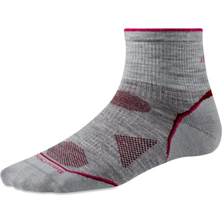 New, improved SmartWool PhD socks are more advanced than ever! Outdoor Ultra Light Mini socks feature innovative new fabric, a more comfortable fit and smart design details that enhance performance. - $15.95