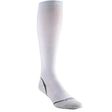 SmartWool PhD Graduated Compression Ultralight socks combine the performance-enhancing benefits of merino wool with recovery-enhancing compression technology. - $18.83