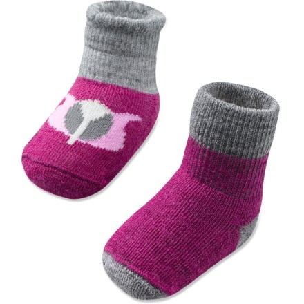 The SmartWool Bootie Batch package offers 2 pairs of merino wool booties with cozy, cute style for tiny tootsies. - $4.83