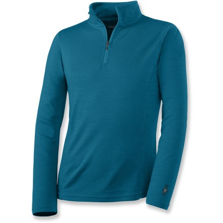 Exclusive to REI, your favorite SmartWool long underwear is now available for your kids, with a partial zip T-neck design to keep them cozy. - $65.00