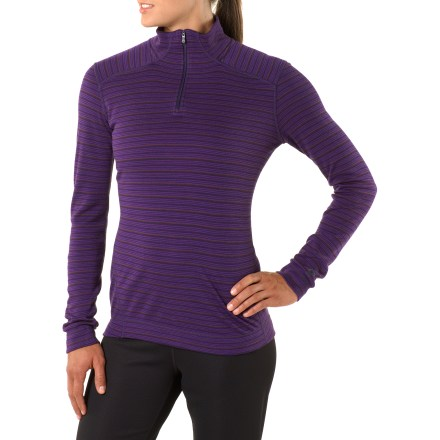 The SmartWool Midweight Pattern Zip-T long underwear top is designed for the fashion-savvy adventurer who's attuned to what's new-eye-pleasing patterns on base layers! - $110.00