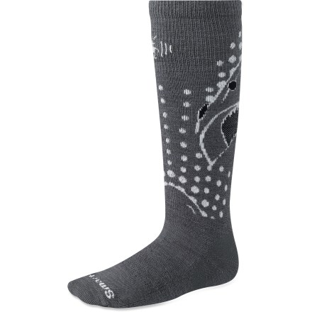 The SmartWool Wintersport Shark socks are great for young snowman builders and shredders alike. They are designed for general use in chilly weather. - $11.93