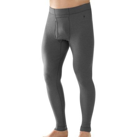 The SmartWool Midweight long underwear bottoms for men are ideal for stop-and-go activities in cold weather. - $95.00