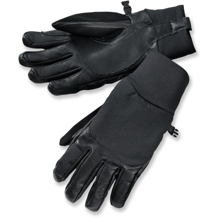 Ski When you're breaking trail in the backcountry and carving turns on the way back down you want gloves that are warm yet offer good dexterity. Look no further than the SmartWool Fresh Tracks gloves. Windproof merino wool/nylon soft-shell fabric on the backs of the gloves has a durable water repellent finish to help shed moisture. Leather palms and fingers provide good grip of ski poles, ice axes and other mountain equipment. Gently wipe nose drips with the soft fabric on the thumbs. SmartWool Fresh Tracks gloves are easy to get on with the leather pull tabs. - $55.93