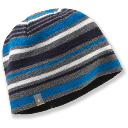 Entertainment Be prepared to take on winter with the SmartWool Warm Striped hat. Jersey-knit merino wool/acrylic exterior has a merino wool headband liner for great warmth and comfort. - $21.93