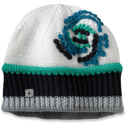 Entertainment Stay warm when winter weather arrives with the colorful SmartWool Between The Raindrops beanie. Merino wool/acrylic blend has a soft merino wool headband liner for great comfort. - $19.83