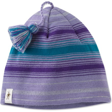 Ski The SmartWool Wintersport Stripe hat for girls offers warmth and comfort while enjoying winter outings. Soft merino wool is naturally warm, breathable and water resistant. Sliding tassel lets her customize her own style. Hand wash cold; lay flat to air dry. Closeout. - $6.73