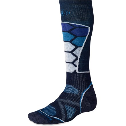 Ski The men's merino wool PhD Ski Medium socks are new and improved, and better than ever. They feature innovative new fabric, a more comfortable fit and smart design details that enhance performance. - $12.83