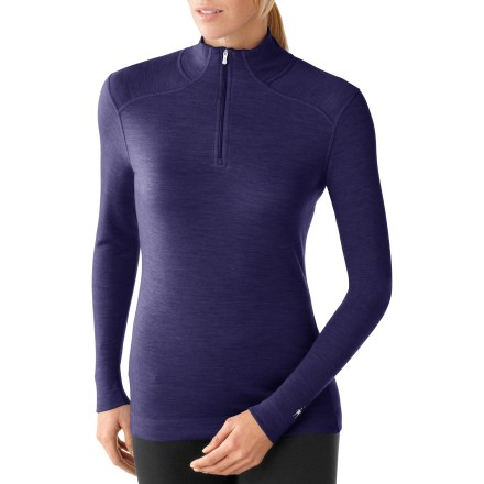 The SmartWool NTS Mid 250 Zip-T long underwear top offers natural stretch, insulation and breathability during stop-and-go activities in fluctuating temperatures to keep you comfortable and dry. - $100.00