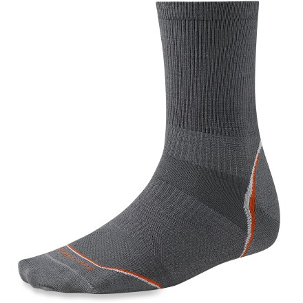 Fitness SmartWool PhD Cycle Ultra Light 3/4 Crew bike socks feature an innovative new fabric, a more comfortable fit and smart design details that enhance performance. - $8.83