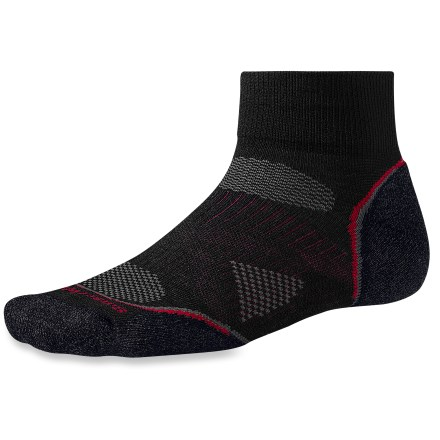Fitness Lightly cushioned for walking and riding, the SmartWool PhD Cycle Light Mini bike socks feature an innovative new fabric, a more comfortable fit and smart design details that enhance performance. - $16.95