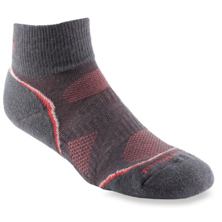 Fitness Lightly cushioned for riding, the SmartWool PhD Cycle Light Mini women's bike socks feature an innovative new fabric, a more comfortable fit and smart design details that enhance performance. - $16.95