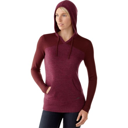 The SmartWool Palisade hoodie features a flattering design and fit. It will quickly become your go-to hoodie for warmth and comfort. Made of soft merino wool, this sweater insulates, wicks away moisture and breathes-naturally. Rib-knit cuffs and bottom hem, and striped fabric inside drawstring hood create distinctive style. Kangaroo pocket keeps hands warm. The SmartWool Palisade hoodie has a semifitted cut to follow body contours. Closeout. - $48.73