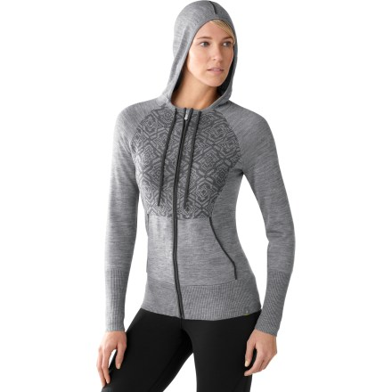 Fitness The SmartWool SportKnit Full-Zip hoodie adds warmth and style to keep you comfortable. Jersey knit merino wool sweater is accented with a rib-knit collar, cuffs and bottom opening. Soft merino wool is naturally warm, breathable, water- and odor-resistant. Locking zipper pull and chin guard. Hood features drawcord for a secure fit. SmartWool SportKnit hoodie has a semifitted cut that's not too tight and not too loose. Machine wash cold on gentle cycle and lay flat to dry. Closeout. - $63.73