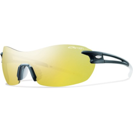 Entertainment The rimless Smith Pivlock V90 sunglasses feature interchangeable lenses and provide an unobstructured field of vision for your high speed activities. - $139.00