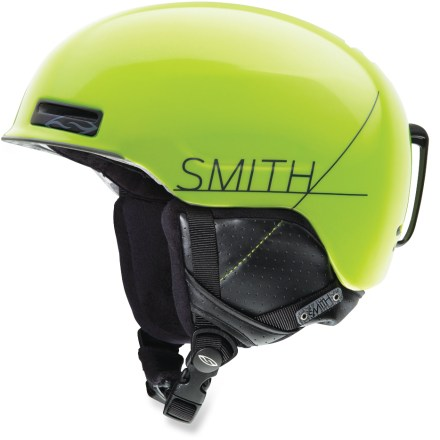 Ski The Smith Maze snow helmet helps keep your noggin protected from hard knocks during the season ahead and weighs in at a very light 11.5 oz.. In-mold construction bonds the liner directly to the shell to create durable strength and light weight. Ventilation system maximizes airflow to reduce performance-inhibiting goggle fogging. Airflow travels from goggles, through internal channels in the foam and out through 9 external vents. Removable strap on the back of helmet secures goggle strap. Fit system uses a forgiving elastic band to flex around the wearer's head, offering a dynamic fit that moves with you. Minimalist, lightweight Snapfit ear pads are soft and comfortable; remove the pads on warm days or to wash. Smith Vantage snow helmet is compatible with Skullcandy(TM) Bluetooth(R) Audio Drop Ins, Direct Connect, and Single Shot audio systems, sold separately. This snow helmet complies with ASTM F 2040 and/or CE EN 1077 alpine ski and snowboard helmet safety standards; for additional information please see REI expert advice. - $100.00