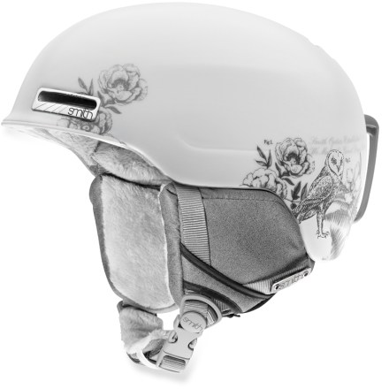 Ski Lightweight, comfortable and ready for fun on the slopes, the Smith Allure snow helmet is styled just for you. In-mold construction bonds the liner directly to the shell to create durable strength and light weight. Ventilation system maximizes airflow to reduce performance-inhibiting fog in your goggles. Airflow travels from goggles, through internal channels in the foam and out through 9 external vents. Removable strap on the back of helmet secures goggle strap. Fit system uses a forgiving elastic band to flex around the wearer's head, offering a dynamic fit that moves with you. Fleece tricot lining offers excellent insulation and a soft feel. Minimalist, lightweight Snapfit ear pads are soft and comfortable; remove the pads on warm days or to wash. Smith Allure snow helmet is compatible with Skullcandy(TM) Bluetooth(R) Audio Drop Ins, Direct Connect, and Single Shot audio systems, sold separately. This snow helmet complies with ASTM F 2040 and/or CE EN 1077 alpine ski and snowboard helmet safety standards; for additional information please see REI expert advice. - $100.00