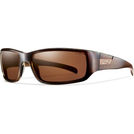 Entertainment The Smith Prospect Polarized sunglasses protect your eyes from harmful exposure and keep up with your active lifestyle with lightweight frames and a solid grip that stays put even if they get wet. - $129.00