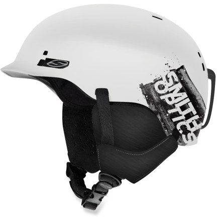 Ski The Smith Gage snow helmet features a smooth look with highly durable protection. Injection-molded ABS plastic construction offers high durability. Ventilation system maximizes airflow through 12 vents to reduce performance-inhibiting fog. Fit system uses a forgiving elastic band to flex around the wearer's head, offering a dynamic fit that moves with you. Removable strap on the back secures goggles to the helmet. Minimalist, lightweight Snapfit ear pads are soft and comfortable; remove the pads on warm days or to wash. Convertible Pad Kit lets you remove the insulation and switch out the pads, making the helmet suitable for summertime skateboarding. Smith Gage snow helmet is compatible with Skullcandy(TM) Bluetooth(R) Audio Drop Ins, Direct Connect, and Single Shot audio systems, sold separately. This snow helmet complies with ASTM F 2040 and/or CE EN 1077 alpine ski and snowboard helmet safety standards; for additional information please see REI expert advice. - $80.00