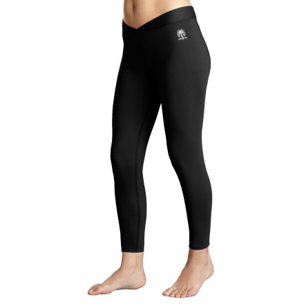 Designed specifically for active women, the Snow Angel Veluxe V-Waist long-underwear bottoms nestle your skin in downlike warmth. Peached on both sides, the heavyweight polyester and spandex fabric feels luxuriously soft, wicks moisture and dries quickly to keep you comfortable. Antimicrobial finish keeps odors at bay, and UPF 40 rating helps protect skin from harsh sunlight. Flatlock seams enhance comfort during motion. Plush interior elastic offers a comfortable fit. Snow Angel Veluxe V-Waist long-underwear bottoms offer a next-to-skin fit. - $34.93