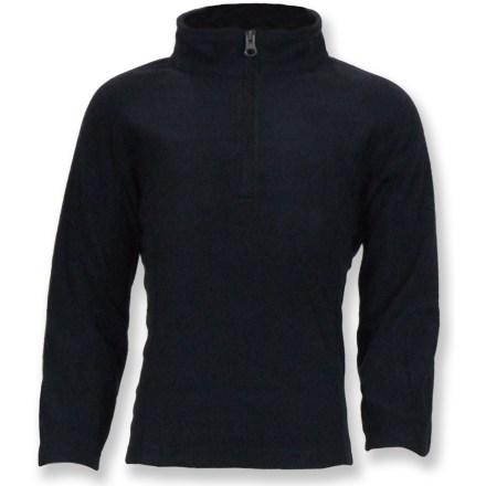 The Snow Dragons Mason Microfleece quarter-zip top provides excellent warmth as a base layer or insulating layer in cold weather. - $15.73