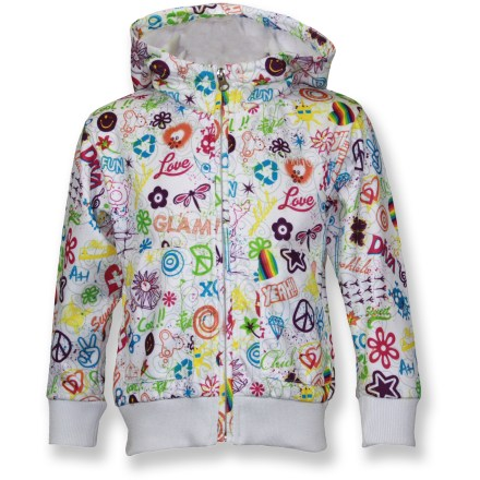 The Snow Dragons sweatshirt for girls is the perfect choice for the classroom and the playground. Polyester jersey fabric is soft and warm. Microfleece backing is soft against skin. Snow Dragons sweatshirt features a full-zip front and front hand pockets. Special buy. - $24.73