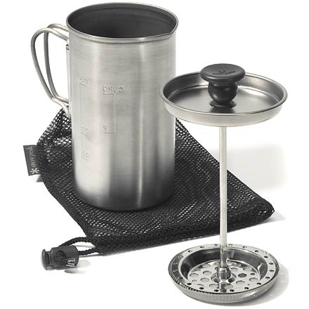 Camp and Hike Take your favorite French press brew further up the mountain with this ultra-light titanium press. - $55.95