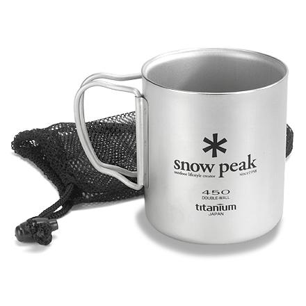 Camp and Hike Keep your beverages piping hot and reduce weight in your pack with this lightweight titanium mug from Snow Peak featuring insulating, double-wall construction. - $34.93