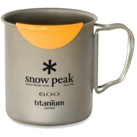 Camp and Hike Use the ultralight Snow Peak Titanium 600 mug with HotLips to enjoy a steaming cup of coffee, tea or soup on your backpacking trips without worrying about burning your lips or weighing down your pack. - $36.95