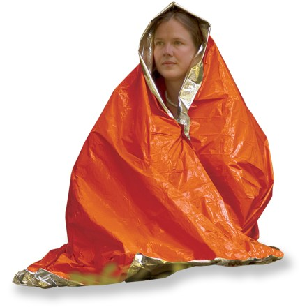 Camp and Hike Don't get left out in the cold. The SOL emergency blanket reflects up to 90% of your body's heat back to you. - $5.00