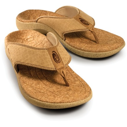 Entertainment SOLE Casual flip-flops bring extraordinary comfort to warm-weather outings. Soft hemp straps are shaped to follow the contours of feet, providing a wonderfully comfortable and secure fit. Moisture-wicking recycled polyester linings are soft against bare feet. Natural cork topsoles are soft and comfortable; natural cork and EVA midsoles offer support and cushioning. Nonmarking rubber outsoles provide traction on varied surfaces. Overstock. - $28.73