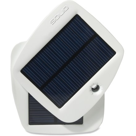Camp and Hike The Solio Bolt solar charger keeps your electronic devices powered up on the go with an onboard battery and rotating solar panels. Solio Bolt charges popular USB-compatible gadgets including smartphones, MP3 players, e-readers, GPS units and cameras. Easy to use-simply connect the charger using your device's USB charging cable. Built-in battery will hold a charge for up to a year; at full charge the battery will provide most smartphones with at least 2 complete charges. The Solio Bolt solar charger can be charged from sunlight or USB port. - $44.93