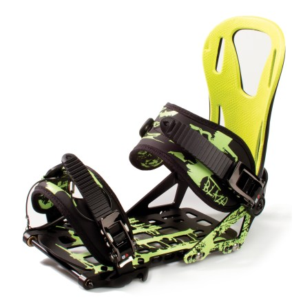 Snowboard The Spark R&D Blaze splitboard bindings are designed specifically for high-speed, big-mountain snowboarders looking for a lightweight binding to explorer untracked pow. Aluminum baseplates are CNC machined from a single piece of aluminum and feature cutouts for traction, snowshed and weight savings. Splitboard-specific highbacks are soft torsionally and stiff from front to back; forward lean ranges from -5 to +25deg to accommodate touring on flats and riding steeps. Precurved ankle straps are minimal and lightweight, yet are comfortable. Integrated toe strap reduces weight and makes for one less part to lose. Welded rings in pins add strength and security. Spark R&D bindings include a Spark pin that works with the Voile mounting system and will also work with the Spark R&D LT Pin system, sold separately. Assembled in the USA of foreign and domestic components. - $253.93