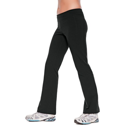 Ski Built to go, the SportHill Flurry women's pants offer a whole lot of comfort and a wide range of motion for fast, active endeavors in cool weather. 4-way stretch polypropylene/spandex fabric offers great wind protection up to 35 mph and excellent moisture management for cool-weather comfort. Wide, split waistband features a lightweight, sumptuously soft fabric that has X-Static(R) silver fibers incorporated into it to provide antimicrobial performance. Discreet, zippered pocket is built into the back of the waistband, securing keys or ID when you're on the go. Flatlock stitching eliminates abrasion, increases comfort and enhances fit by reducing bulky seams. The SportHill Flurry women's pants feature a semifitted shaping with boot-cut legs; waistband sits about 1.5 - 2 in. below the natural waistline. - $76.93