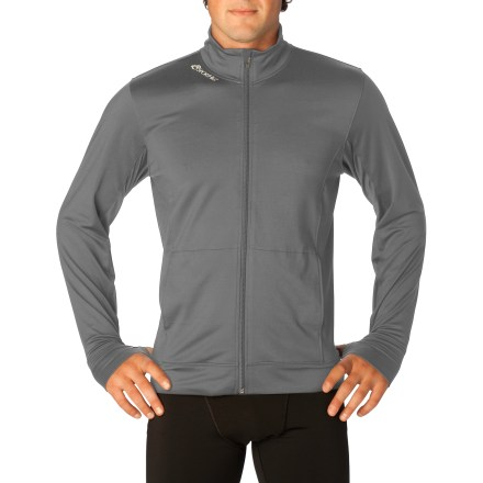The SportHill Nomad Full-Zip Top is an ideal lightweight outer layer to warm up in, and to throw on after workouts in cool weather. It can also be worn as a mid-layer beneath a shell. Wind-resistant polyester/spandex blend fabric offers motion-friendly, moisture-wicking, quick-drying performance. Semi-fitted cut provides form-following style without sacrificing comfort; hits at hip. Mock-neck helps seal in and release core warmth as needed; reflective logo on right neckline. Two front on-seam hand pockets, plus thumb holes at the cuffs are perfect for keeping the chill off your hands when it's too warm for gloves. Closeout. - $19.93