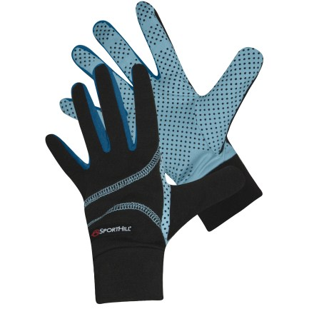 Ski The SportHill 3SP Summit gloves provide wind-blocking warmth whether worn alone or layered under a shell. Polypropylene/spandex blend fabric stretches to fit; fabric is quick drying and moisture wicking. Closeout. - $24.93