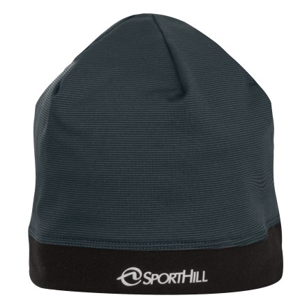 Ski The SportHill Infuzion Splice beanie maximizes warmth and offers a sure fit. Polyester/spandex blend fabric stretches to fit and maximizes warmth. Reflective logo increases visibility in low light. Closeout. - $10.83