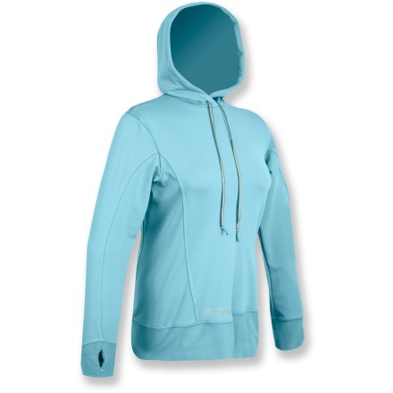 Entertainment The SportHill InFuzion hoodie outfits you for afternoon jogs and cold-weather training. Swift(TM) fabric works great as a base layer for extreme winter weather or as a midweight single layer for chilly but less extreme days. Contoured hood surrounds head in warmth. Articulated sleeves allow freedom of movement for increased comfort. Flatlock seams offer flexibility and comfort. SportHill InFuzion hoodie features contoured seams and an elliptical hem. Special buy. - $21.73